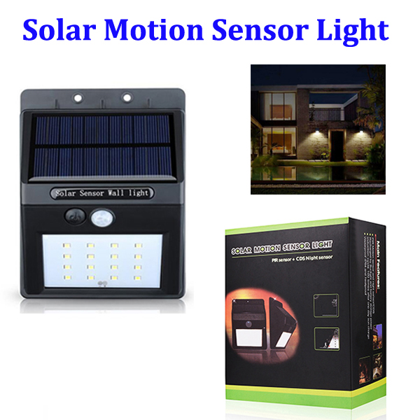 16 LED Solar Motion Sensor Light