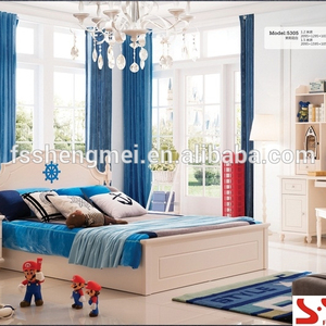 E1 grade MDF solid wood gas lift bed night stand computer desk boys kids teen bedroom furniture