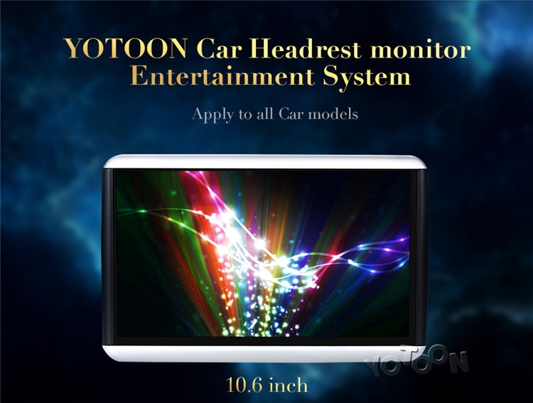 10.6 inch Headrest Monitor Android with WiFi/USB/SD Universal forHanging for back seat
