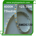 75leds nature white 123.75W led under cabinet dimmable led strip lighting