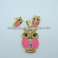 high quality 2014 indian pink world imitation jewelry set
