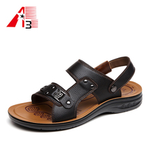 high quality men male arabic leather sandal