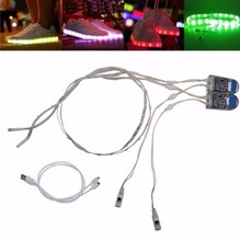 cool flash night running shoes led strip light SMD3528 5v 24leds USB rechargable