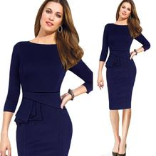 K2782A European Office Pencil Dress Patterns For Women Formal Slim Dress Pictures For Ladies