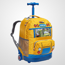 2016 New arrival and fashionable School Bus Kids trolley School bags