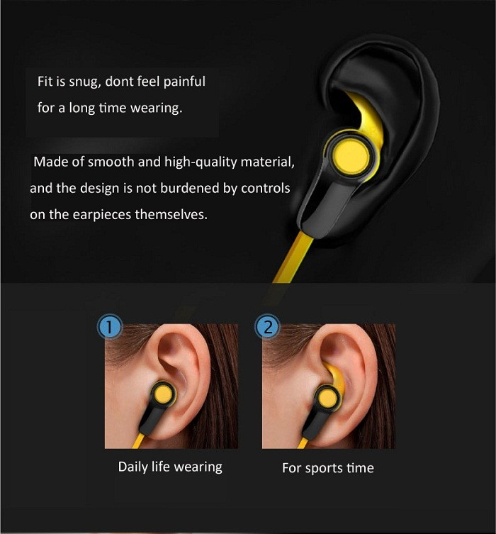 Waterproof sports bluetooth earbuds CSR8645 stereo bluetooth wireless headphone with magnet