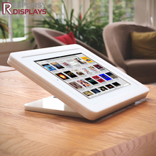 Practical countertop white acrylic ipad mini holder for entertainment