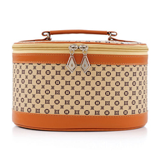 Wholesale PU Leather Promotional Ladies Make Up Bags Travel Cosmetic Case For Women