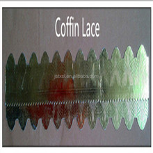Coffin accessories lace with paper material for coffin