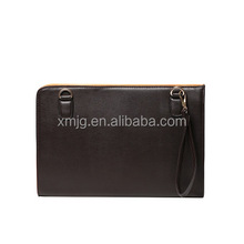 Hot selling high quality men's PU leather laptop sleeve for ipad and laptop