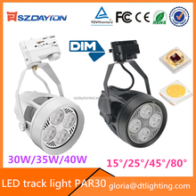 Commercial clothing shop lighting smd cob dimmable led track lighting 35W 40W