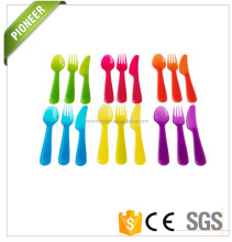 long time use camping reusable plastic personal fork and spoon