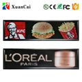 SMD outdoor waterproof P10-128x32RGB programmable full color LED sign display with USB disk communication control