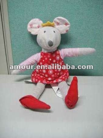 cute handmade fabric toy mouse lovely stuffed dressed cloth mouse doll new toys for christmas 2013 cheap gifts