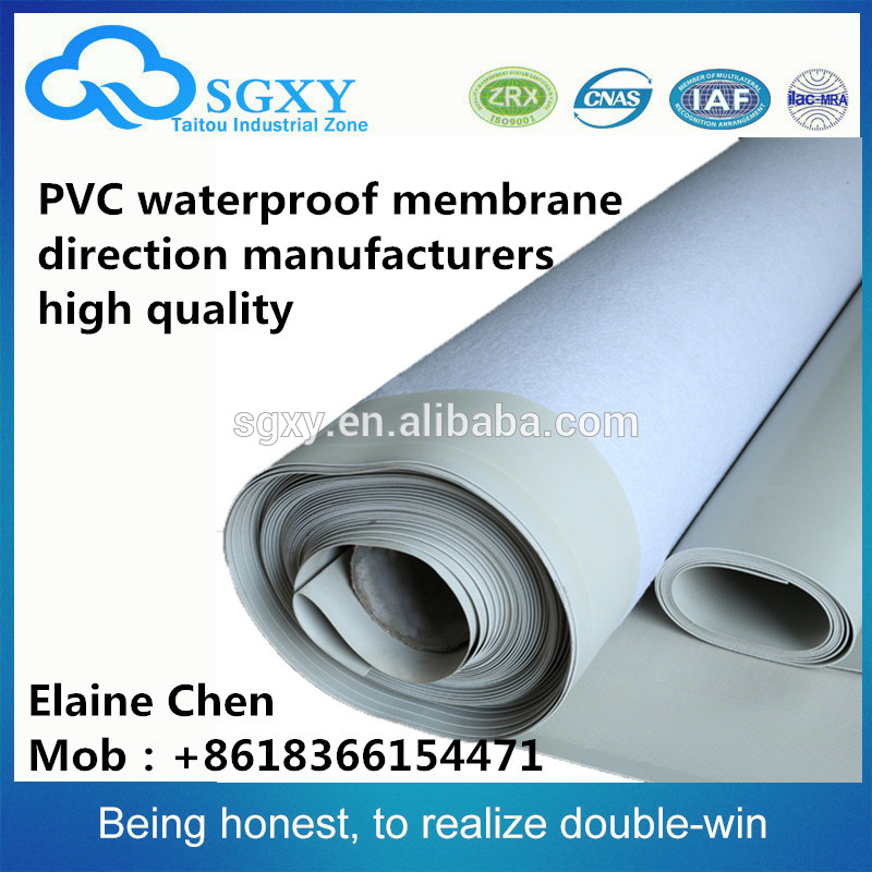 Hot sell soft reinforced pvc waterproofing membrane