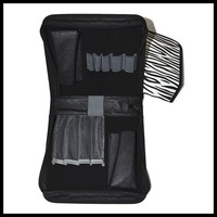 Customized instrument kit leather case, E-cig accessory carry zipper case