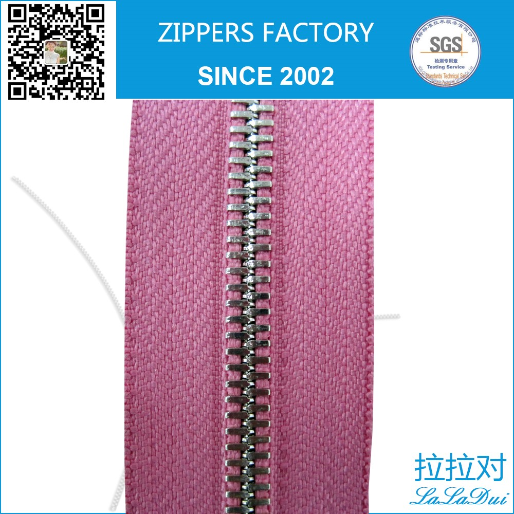 metal silver corn teeth zipper as corn zip