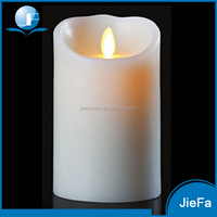 2016 hot selling decoration homemade white pillar candles