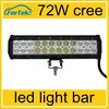 2015 4D new design best spot and brightness 72W led light bar 13.5inch 10~30V DC work light led IP67 led work light