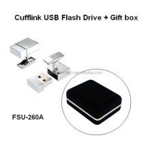 Branded Names Promotional Items Wholesale Mini USB Cufflinks Flash Drive 128gb