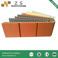 Latest building materials terracotta sunscreen tiles , exterior dry wall cladding material, curved design wall tile panels