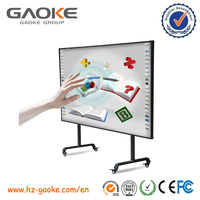 85 inch new metal frame electromagnetic gloview 3d touch interactive whiteboard