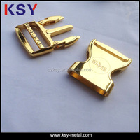 25mm Fashion gold metal quick side release buckle for bags
