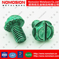 Green phillps hex head electronic machine screw