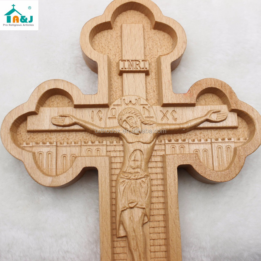 Wooden crucifix crosses