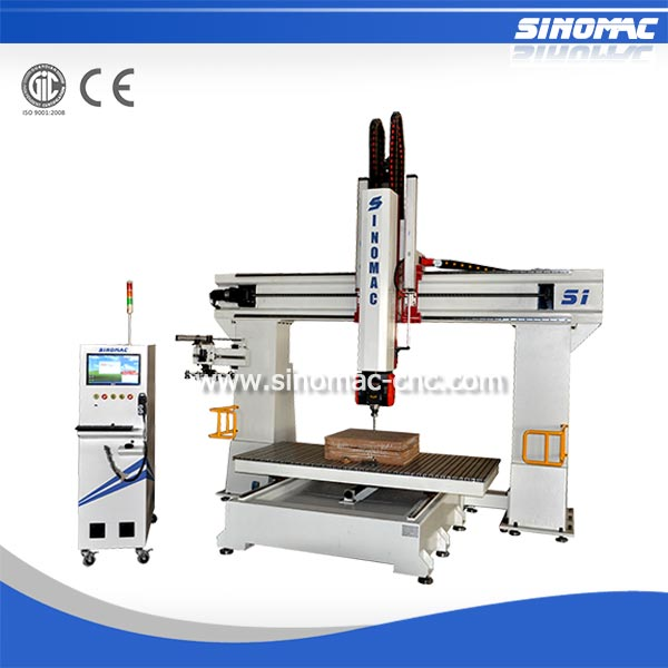 S1-1325 5 Axis Mini CNC Router With AtcTool Magazine Wood Cutting Machine