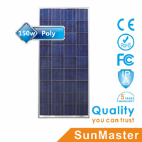 high quality chinese poly 150W solar cell 18v