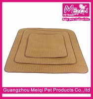 Enverimental pet store beds rattan materil cool pet mattress new dog bed waterproof