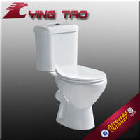 washdown two-piece toilet with africa style in sanitary ware water closet