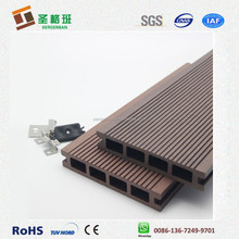 Fire resistance wood plastic composite terrace floor/ wpc decking embossed/ solid wpc decking board