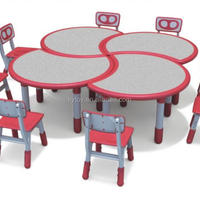 Modern Plastic Children Table And Chairs