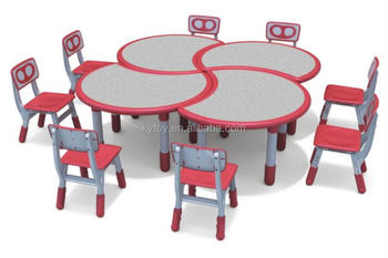 Modern Plastic Children Table and Chairs Furniture for Sale