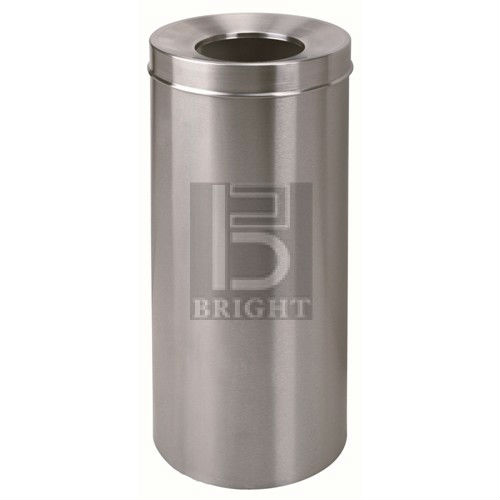 Stainless Steel Round Waste Bin c/w Open Top