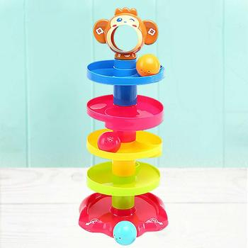 2019 Non-toxic Educational Funny Plastic Baby Toys ABS Rolling Ball With Building Puzzle Design