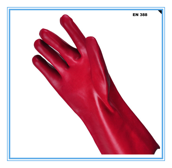 Oil resistant PVC glove/ heatproof PVC gloves
