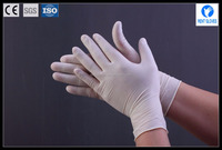 disposable powdered sexy beaded cuff latex gloves