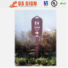 Toilet indication pavement sign stand board