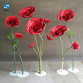 Handmade hand-painted stained standing bubble paper flowers