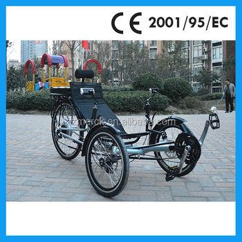500w motor 48v battery recumbent electric trike with for Recumbent bike with electric motor