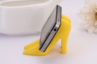 HOT selling silicone High-heeled Shoes mobile phone holder
