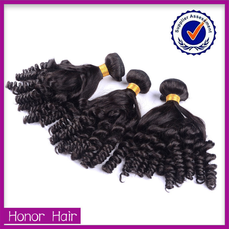 No shedding tangle free 100% human hair track hair braid