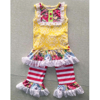 High quality fabric baby clothes china girls boutique clothing brand remake girls clothes
