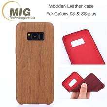 New arrival cell phone case for samsung note 8 retro Wood grain pattern soft TPU+PU case for samsung galaxy note 8