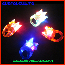 Soft flashing crown finger ring rubber led finger lights glowing in the dark party supplies kids light up toys