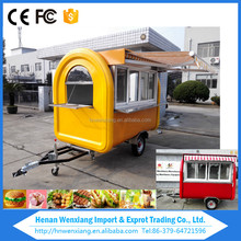 2016 Best sale hot dog cart used mobile food trucks for sale