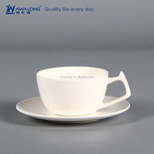 Ceramic Tea Cup Custom Printed Logo, Promotional Porcelain Plain White Coffee Cup and Saucer